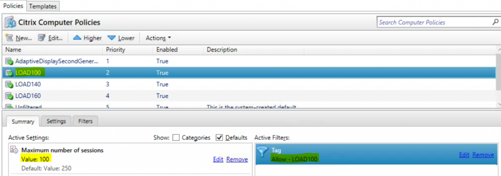Load Management in XenDesktop 7.1