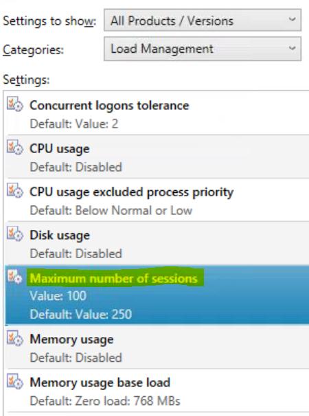 Citrix XenDesktop 7.1 Load Management